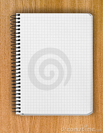 Background from spiral notebook