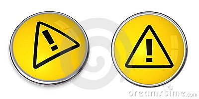 Button Attention Symbol