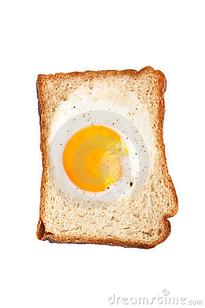 Toast with egg inside