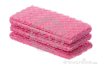 Pink Wafers Macro Isolated