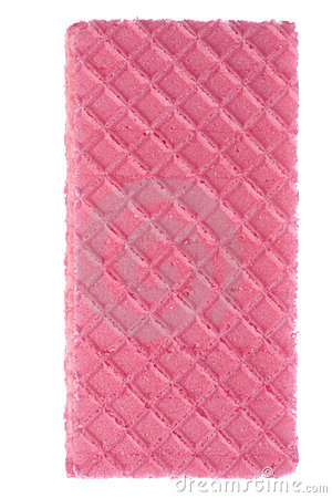 Pink Wafer Macro Isolated