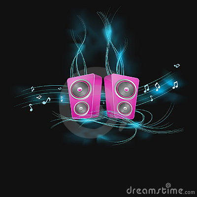 Abstract decorated speakers