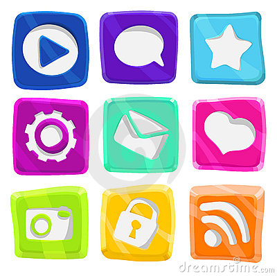 Bright, abstract, fun icon set