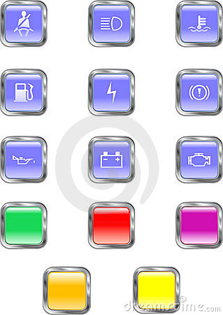 Square Dashboard Buttons