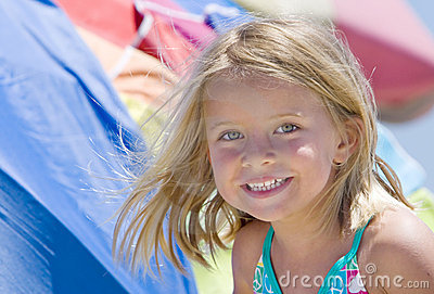 Smiling Girl at Beach