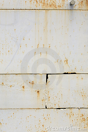 Grunge metal white wall. Vertical size.