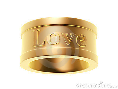 Golden love ring
