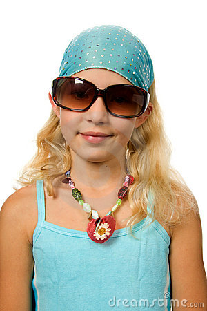 Summer girl with big sunglasses