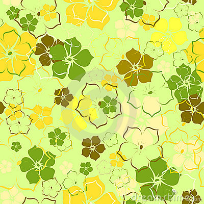 The green flower background