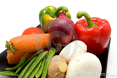 Plate with vegetables