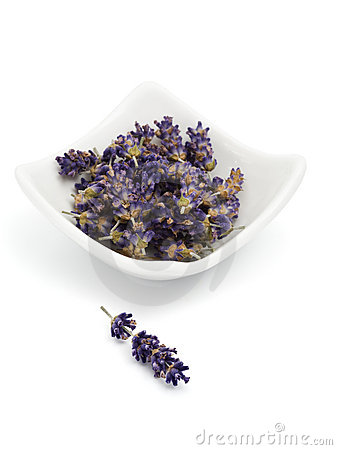 Dried lavender blossoms