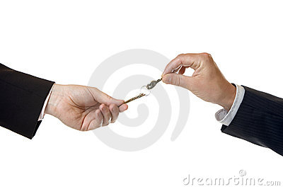 Hand over of key to success