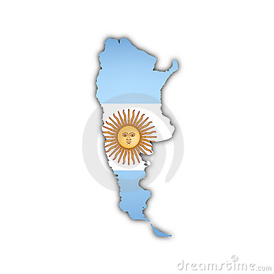 Vector map of argentina