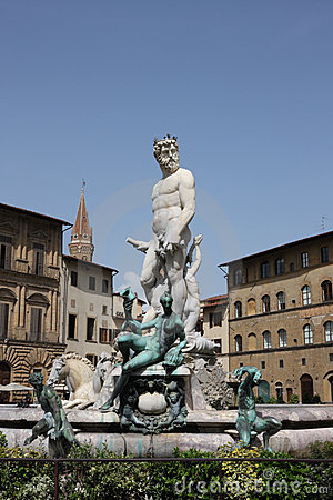 Statue of Neptune in Florence,Italy