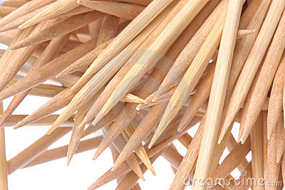 Toothpicks Macro Isolated