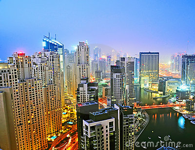 Dubai Marina Night Scene 3