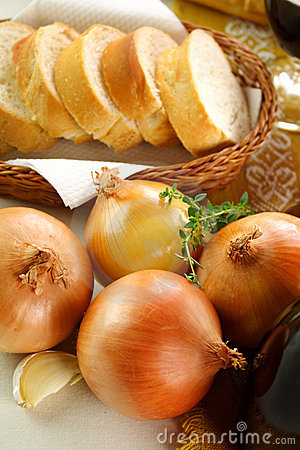 Onions And bread
