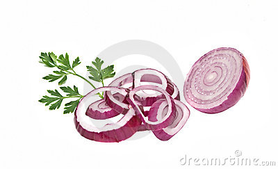 Onion, onion slices  and parsley