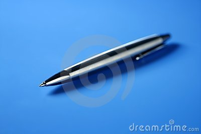 Single simple steel roller pen