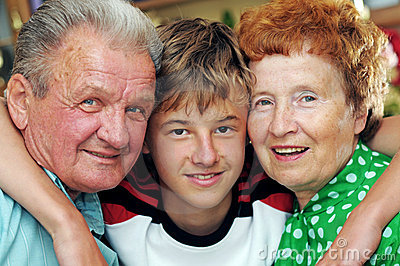 Grandparents with grandson