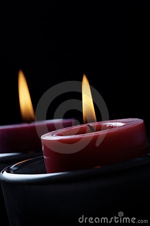 Candles in the dark.