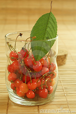 Cherry in glass