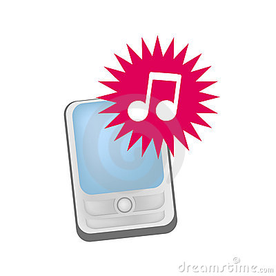 Mobile phone ringtones vector