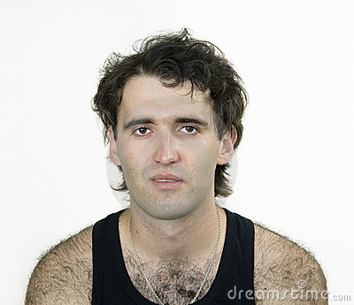 Hairy attractive man