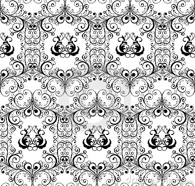 Damask seamless background