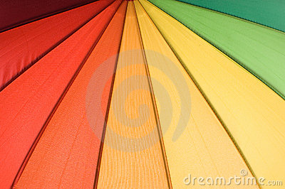 Rainbow colored umbrella