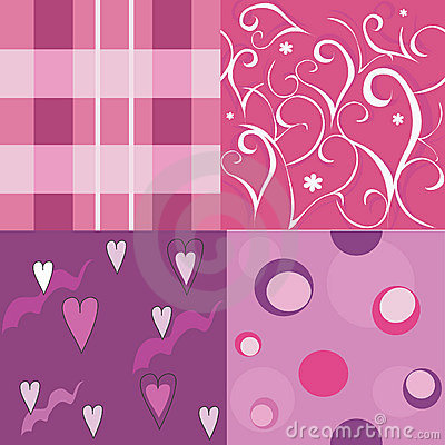 Set with elegance seamless backgrounds