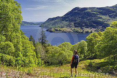 Hiker in Lake District