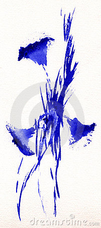 Three Blue Flowers (Gentian)