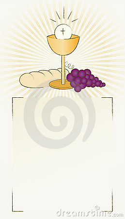 Holy Communion Bread, wine and chalice