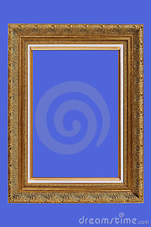 Gold plated quad-rate picture frame