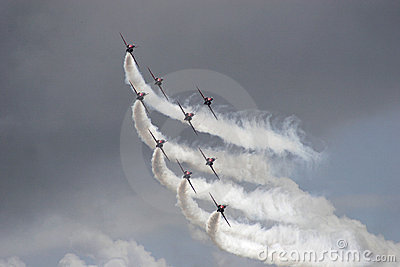 Red Arrows aerobatic display team