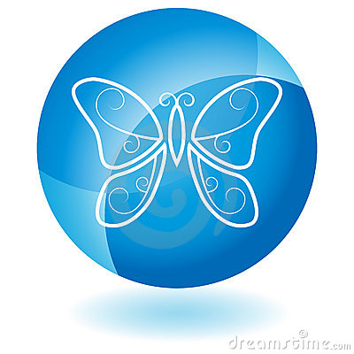 Blue Icon - Butterfly