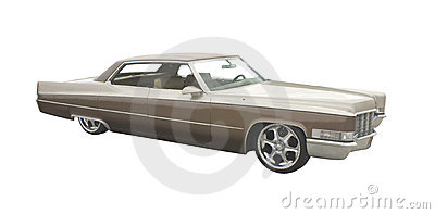Large two tone brown sedan