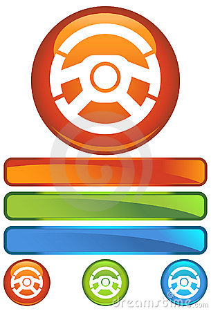 Orange Round Icon - Wheel