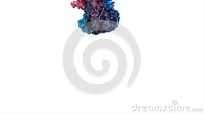 Blue smoke movement animation. color smoke on a white background. abstract vibrant blue tropical sea shades and white