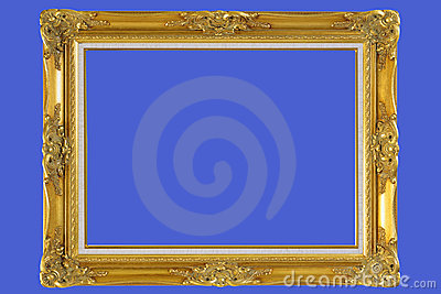 gold plated wooden picture frame