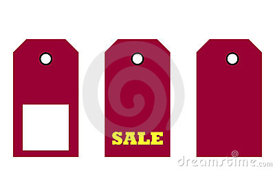 Three sale tags