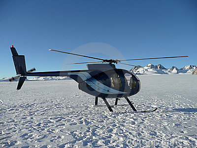 Helicopter on Mt Cook