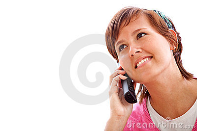Girl using the phone