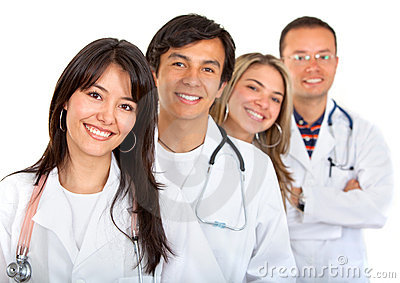 Happy doctors