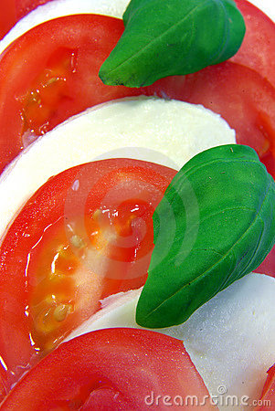 Tomato and mozarella