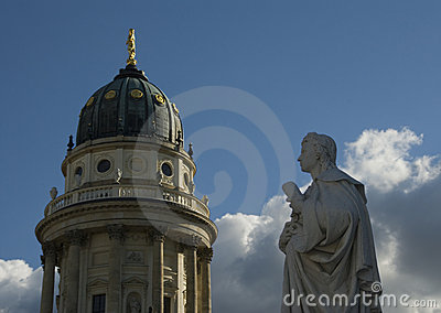 German Cathedral And Friedrich Schiller
