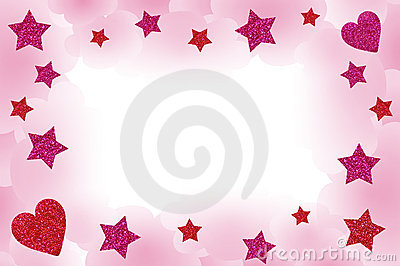 Pink Starry Frame
