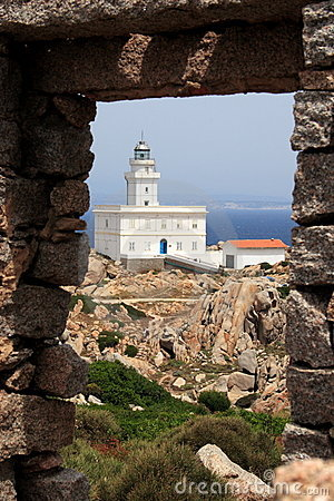 Capo Testa lighthouse in Sardegna