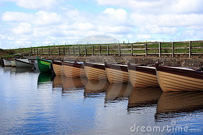 Boats in a small mooring in Donegal - Ireland